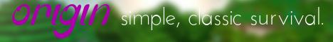 origin survival | 1.7 practically-vanilla SMP